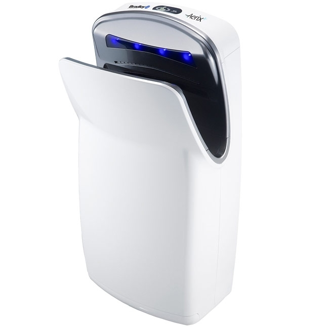 Bradley Aerix 2921-W 110-120V White Surface Mounted Hand Dryer