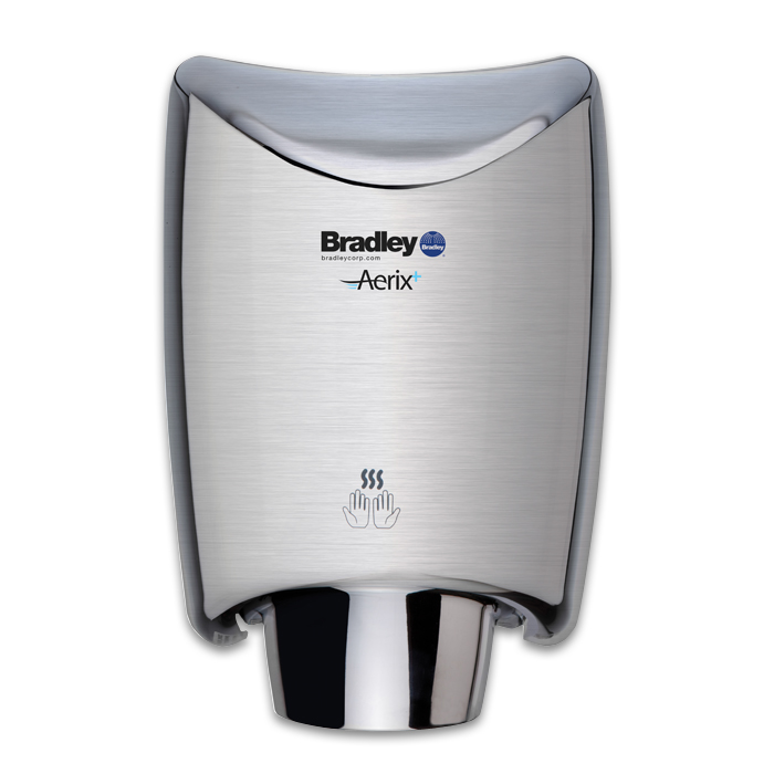 Bradley Aerix 2922-2874 Satin Stainless Steel 110-120V Surface Mounted Hand Dryer