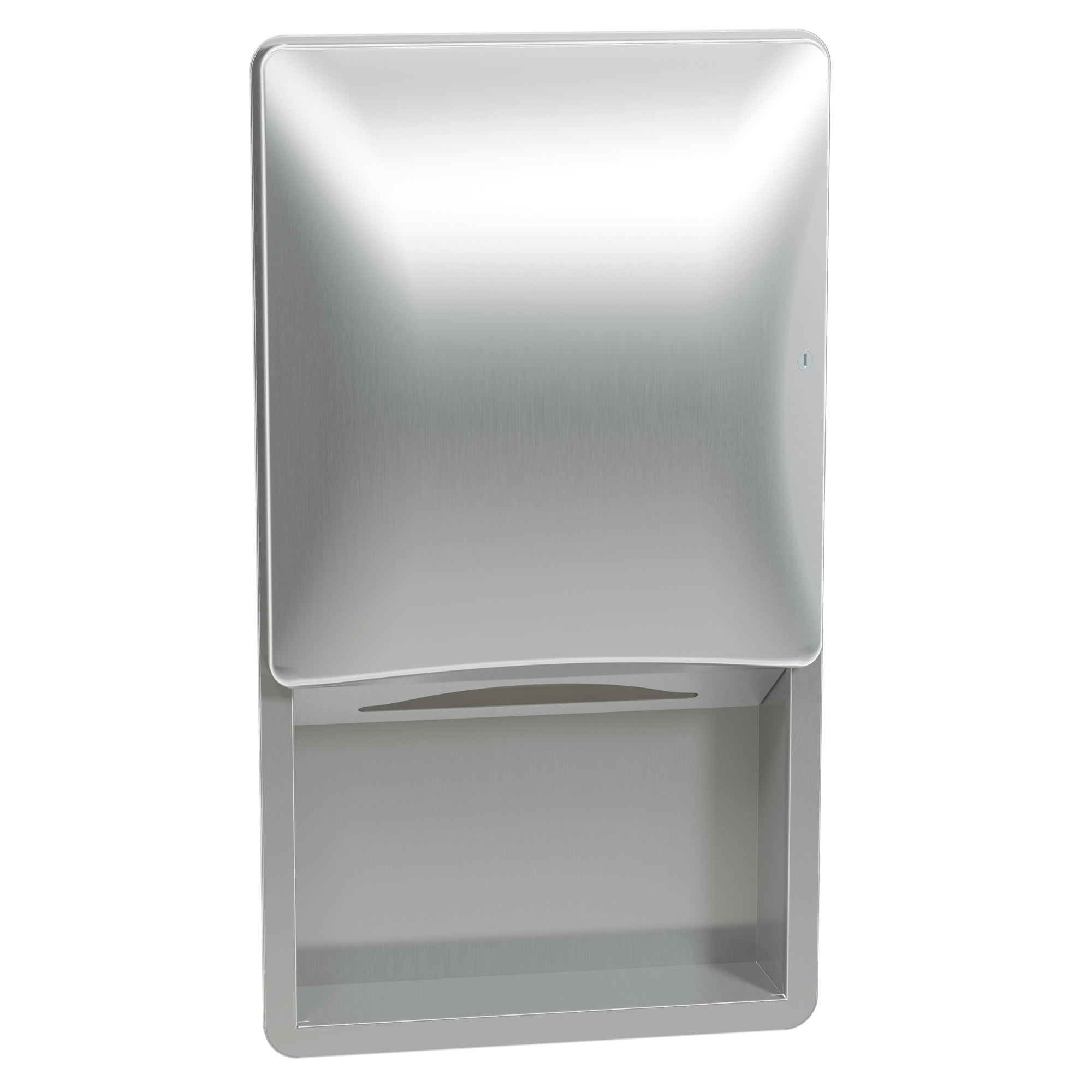 Bradley 2A01-10 Semi-Recessed Lever-Activated Towel Dispenser