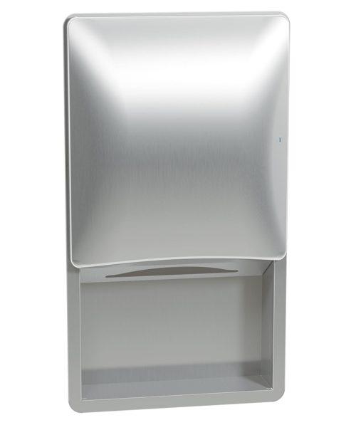 Bradley 2A02-10 Semi-Recessed Sensor-Activated Towel Dispenser