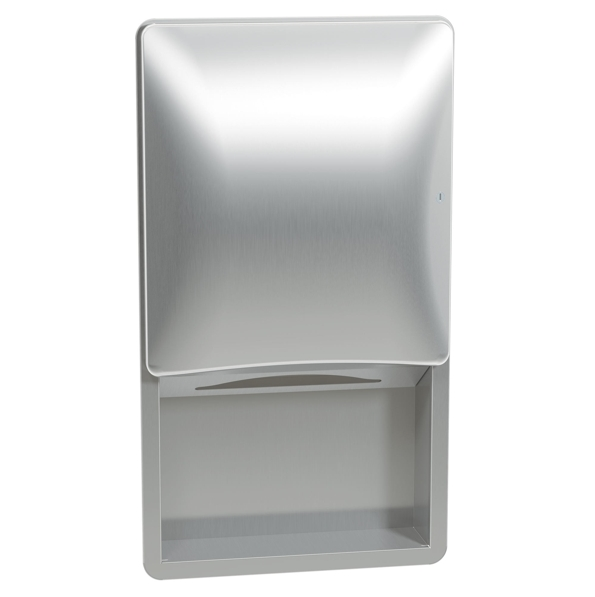 Bradley 2A02-10 Semi-Recessed Sensor-Activated Towel Dispenser