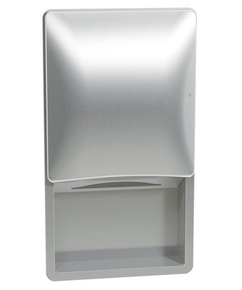 Bradley 2A09-10 Semi-Recessed Towel Dispenser (No Dispenser)