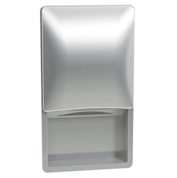Bradley 2A09-10 Semi-Recessed Towel Dispenser (No Dispenser)