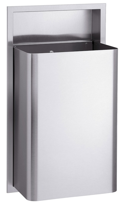 Bradley 334 Recessed 18 Gallon Waste Receptacle