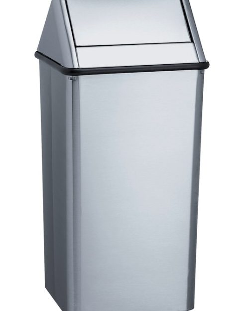 Bradley 377 Freestanding 13 gal. Waste Receptacle With Removable Swing Top