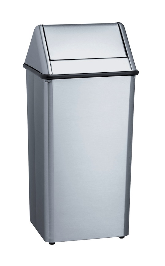 Bradley 377-38 Freestanding 36 gal. Waste Receptacle With Removable Swing Top