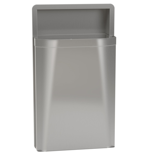 Bradley 3A05-10 Semi-Recessed 12 gal. Waste Receptacle