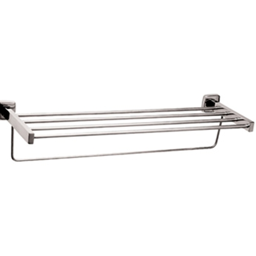 Gamco 7676x24 Surface Mounted Towel Shelf with Towel Bar - 24""
