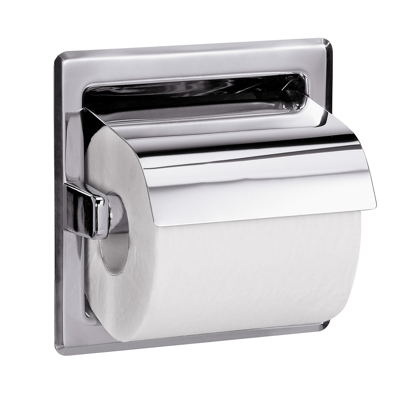 Bradley 5103 Recessed Single Roll Toilet Paper Dispenser With Hood