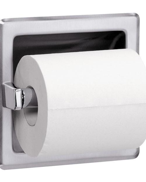 Bradley 5104 Recessed Single Roll Toilet Paper Dispenser