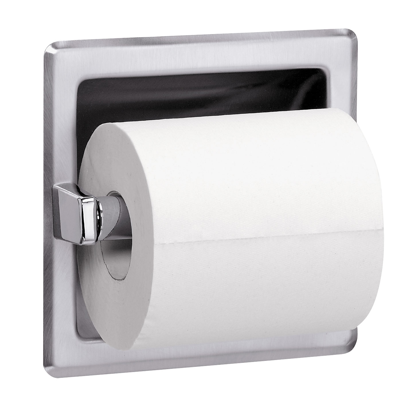Bradley 5104 Recessed Single Roll Toilet Paper Dispenser