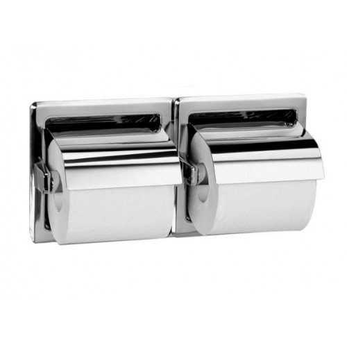 Bradley 5123 Recessed Double Roll Toilet Paper Dispenser With Hood