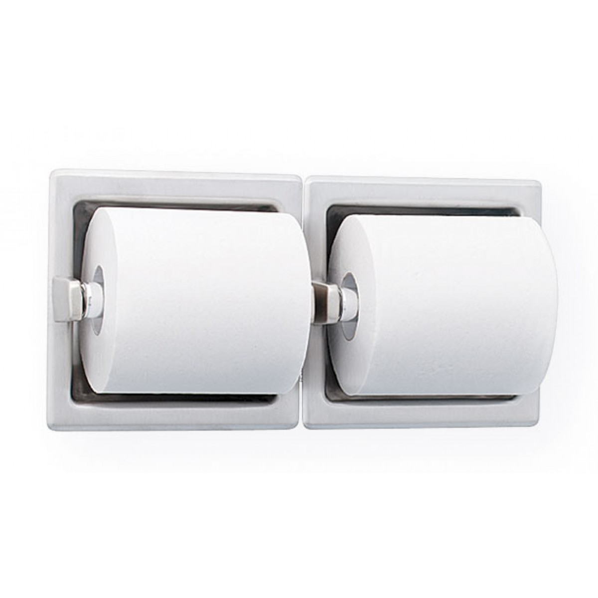 Bradley 5124 Recessed Double Roll Toilet Paper Dispenser
