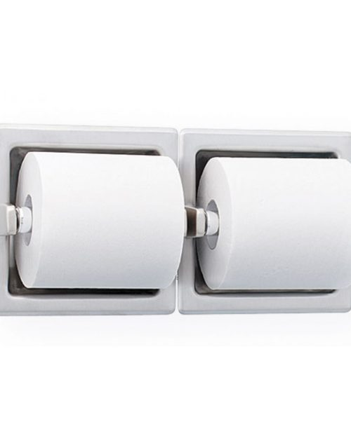Bradley 5125 Recessed Double Roll Toilet Paper Dispenser