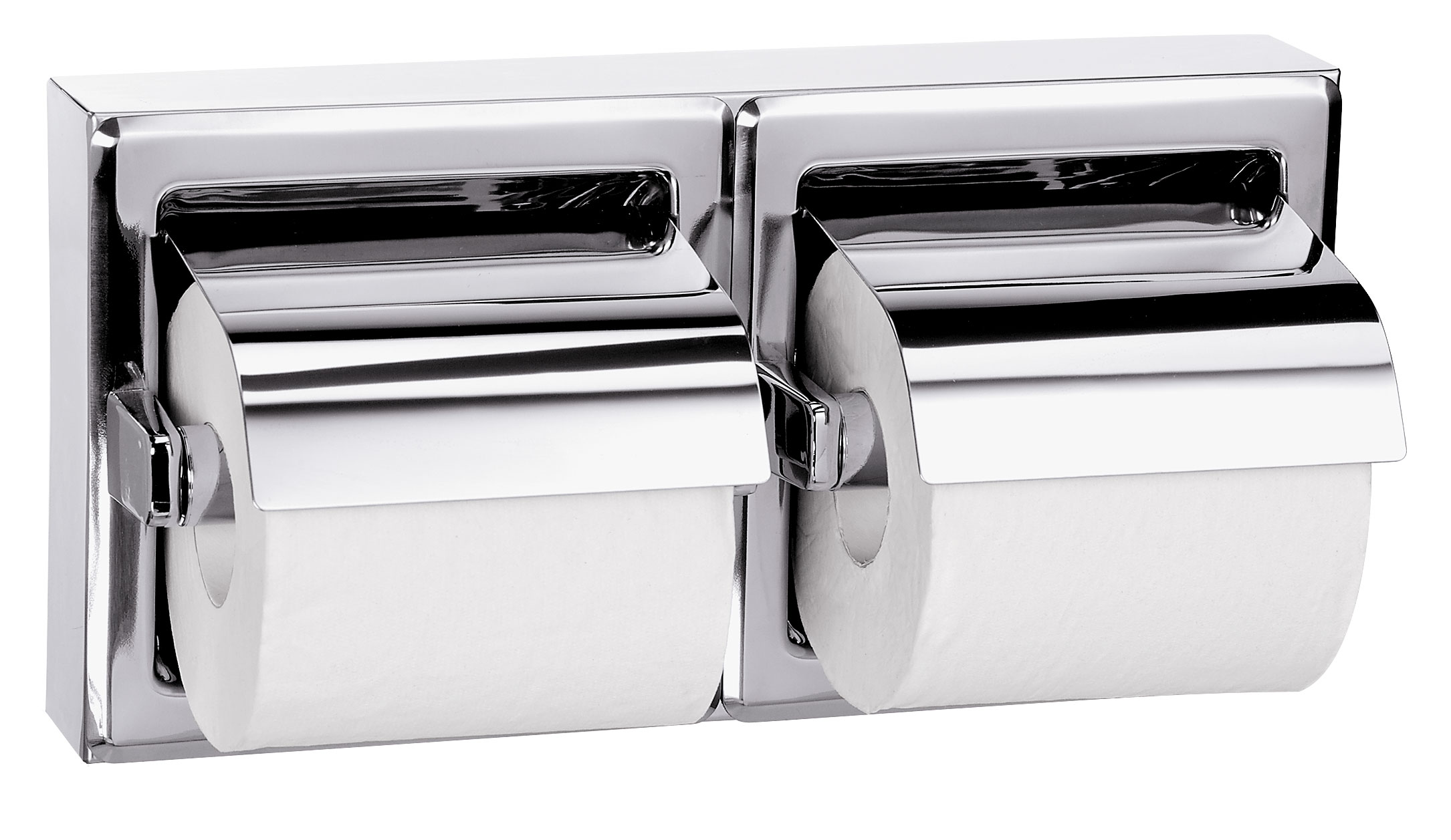 Bradley 5126 Double Roll Toilet Paper Dispenser