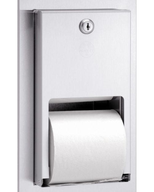Bradley 5412 Dual Roll Toilet Paper Dispenser