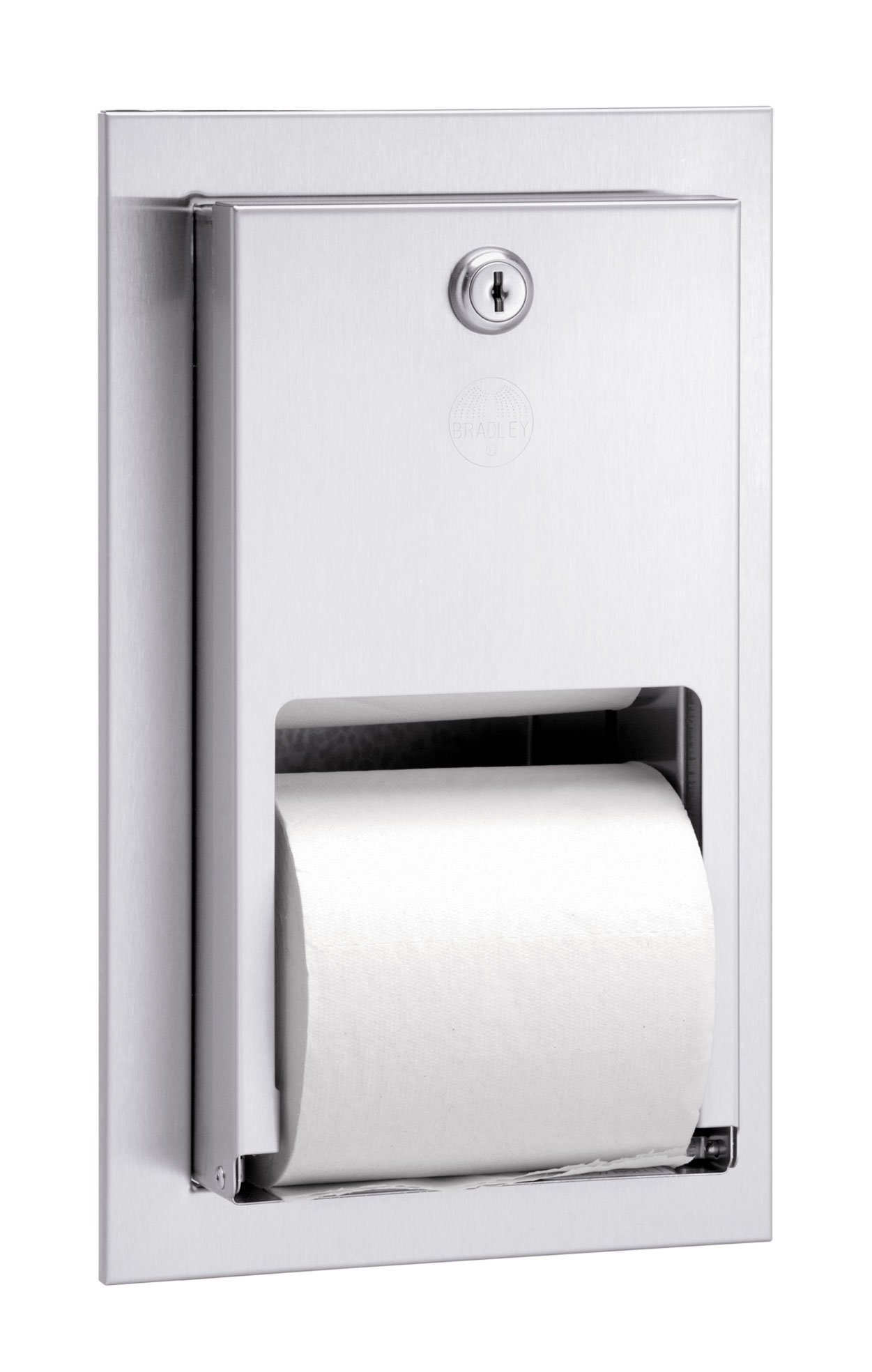 Bradley 5412 Dual Roll Toilet Paper Dispenser