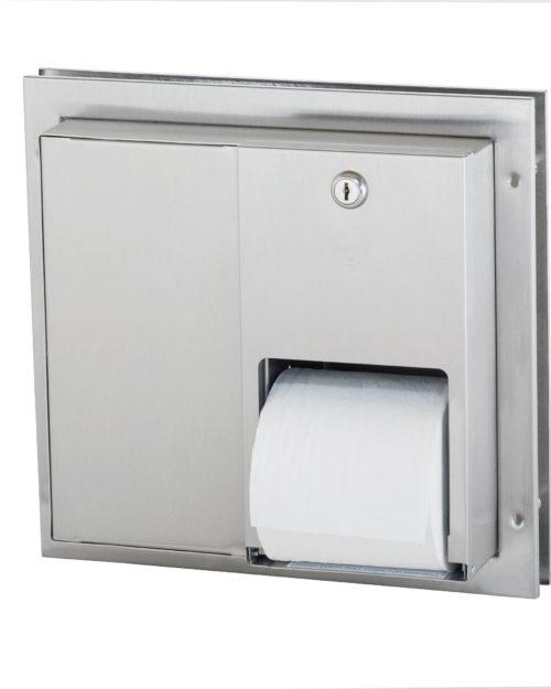 Bradley 5422 Dual Roll Toilet Paper Dispenser