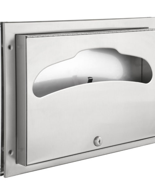 Bradley 582 Recessed Partition Mounted Seat Cover Dispenser