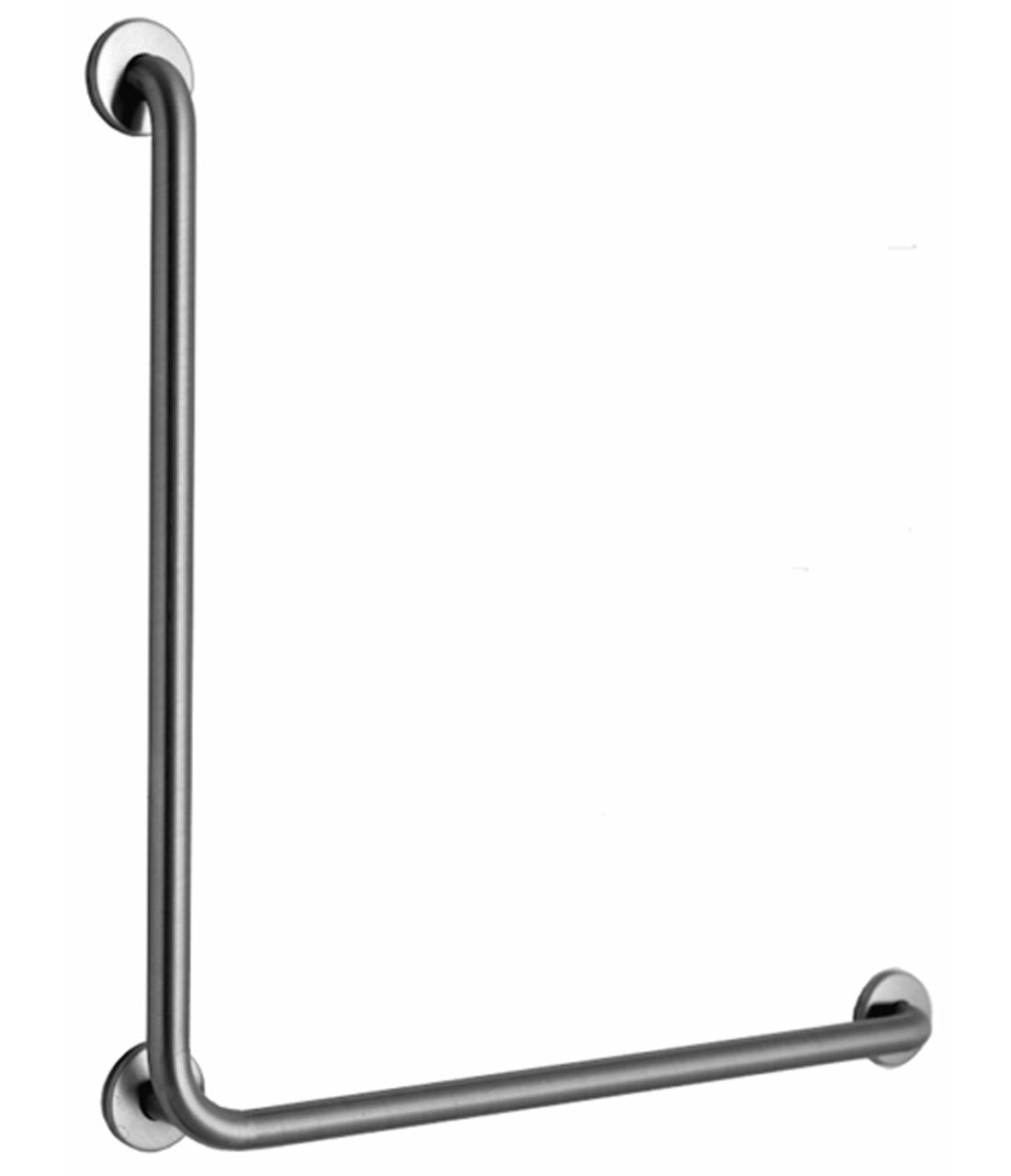 Bobrick B-6898.99 L-Shaped 90 Degree Grab Bar w/ Peened Grip