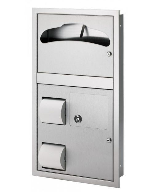 Bradley 5912 Recess Mounted Combination Unit (Reverse Door)