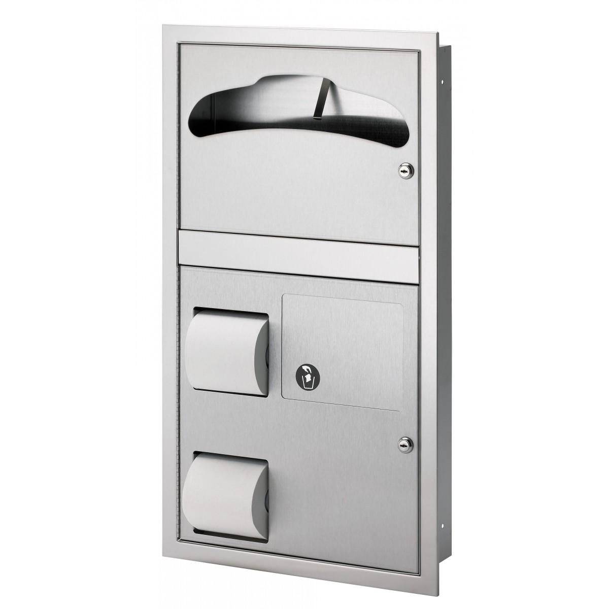 Bradley 5912 Recess Mounted Combination Unit (Reverse Door)