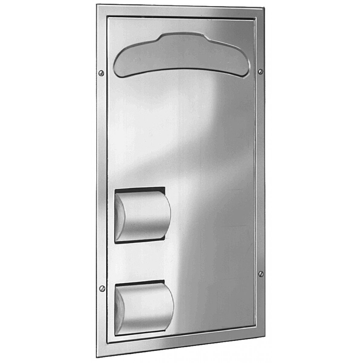 Bradley 5921 Partition Mounted 2-Stall Seat Cover/Tissue Dispenser