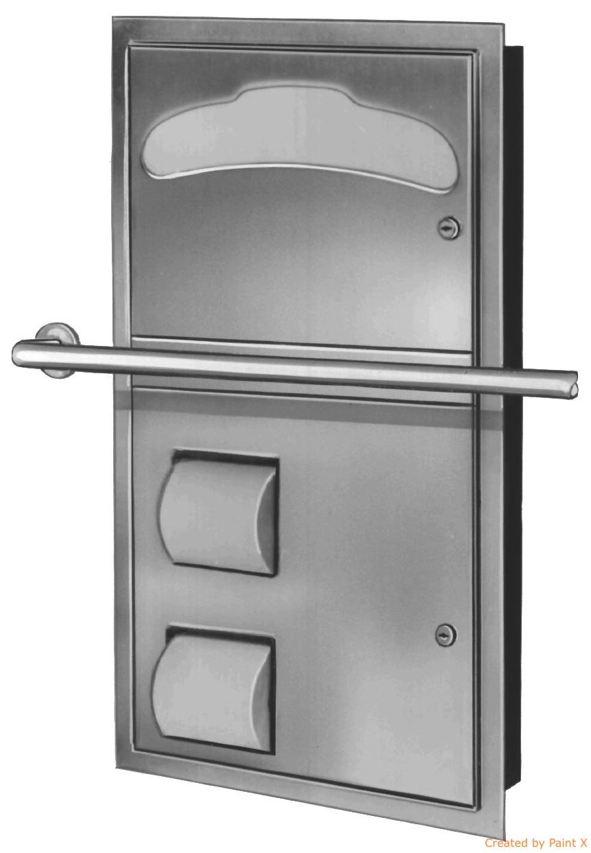 Bradley 5922-69 Recessed Combination Unit (Reverse Door)