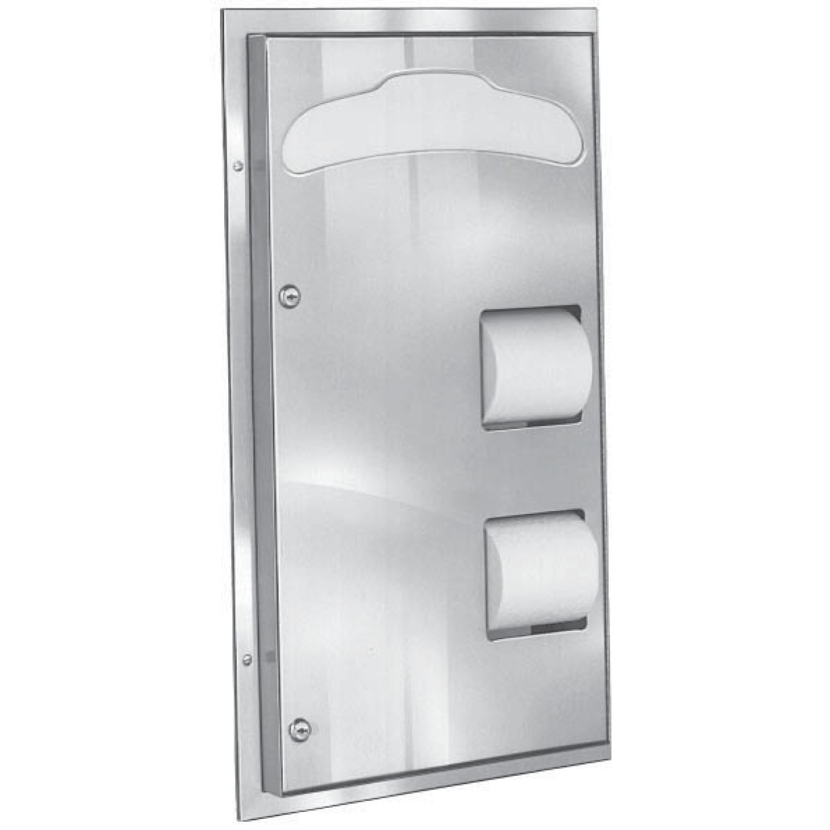 Bradley 592 Partition Mounted 2-Stall Seat Cover/Tissue Dispenser