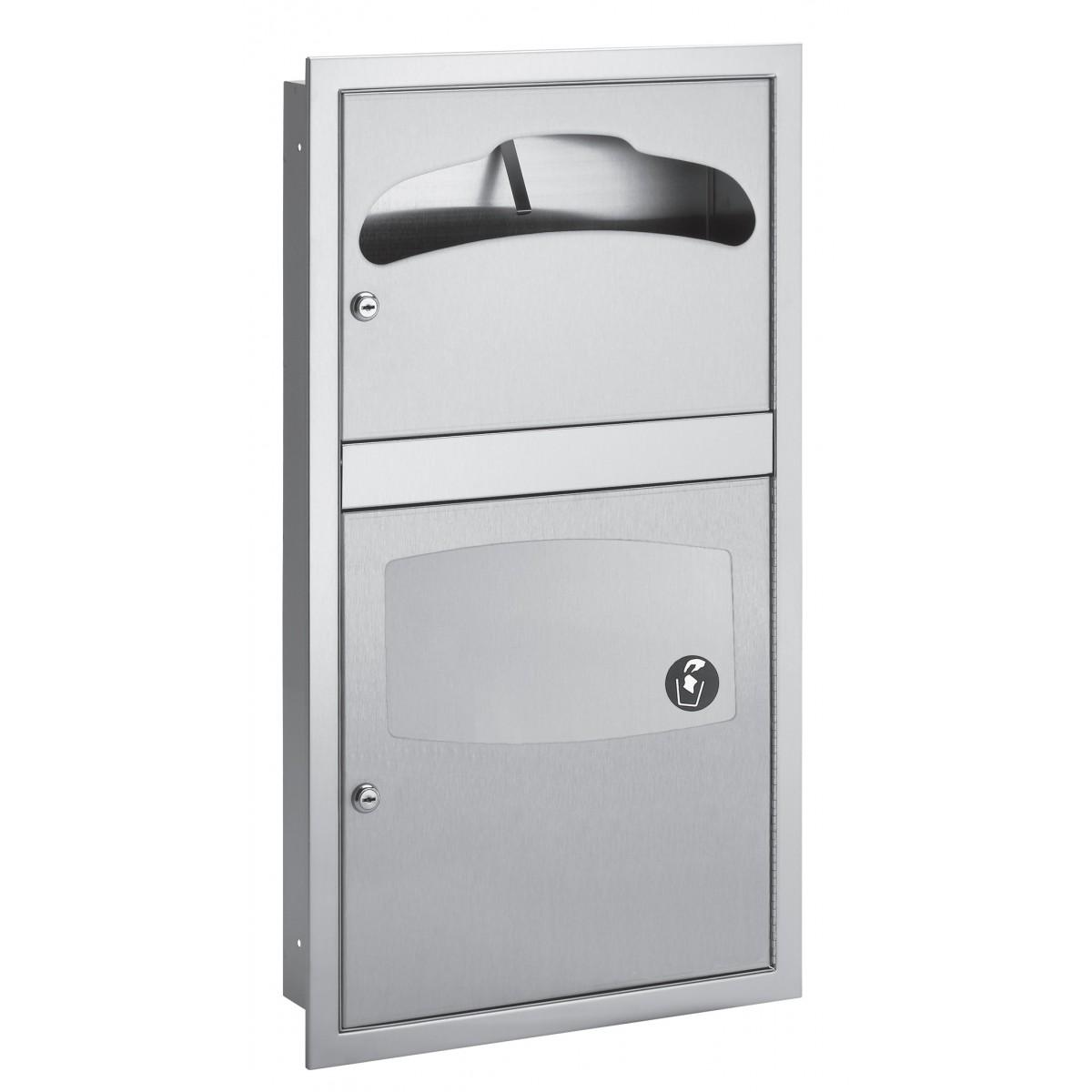 Bradley 5932-10 In-Stall Semi-Recessed Combination Unit