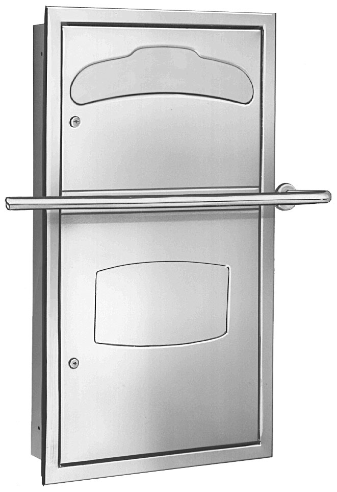 Bradley 5932 Recessed In-Stall Combination Unit