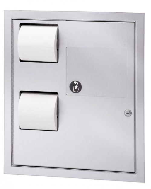 Bradley 5942-69 Recess Mounted In-Stall Combination Unit (Reverse Door)