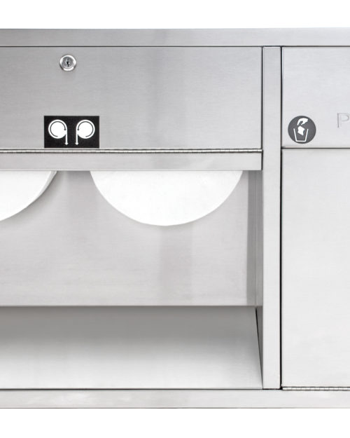 Bradley 5952 Recessed In-Stall Combination Unit (Right Handed)