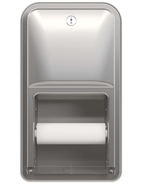 Bradley 5A00 Recessed Dual Roll Toilet Paper Dispenser