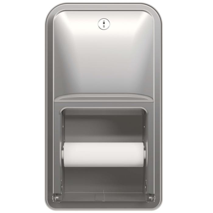 Bradley 5A00 Recessed Dual Roll Toilet Paper Dispenser