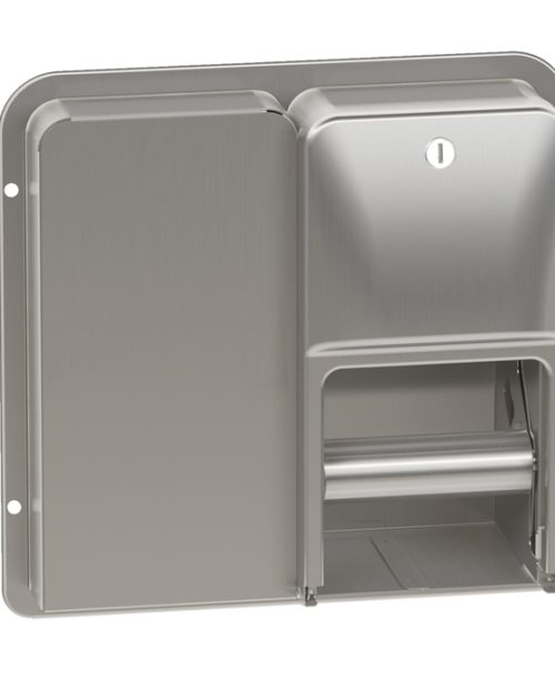 Bradley 5A20 Diplomat Series Partition Mounted Dual Roll Toilet Paper Dispenser