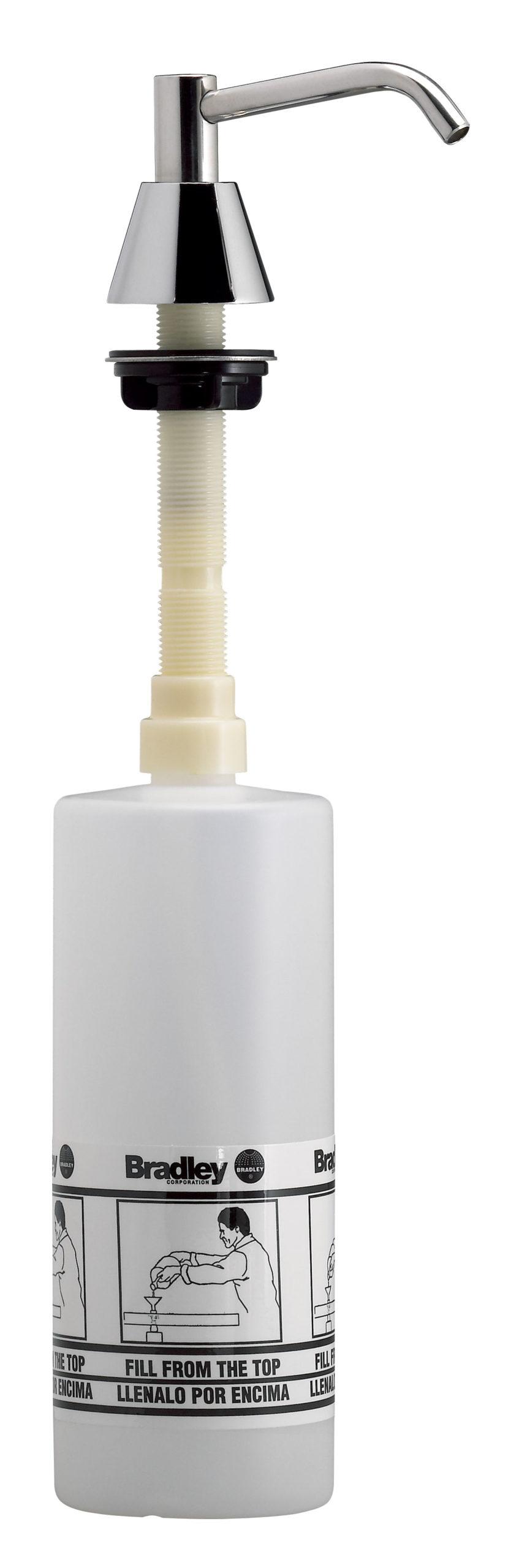 """Bradley 6324-68 Spout Pump Liquid Soap Dispenser (4"""" Spout, 32oz cap.)"""