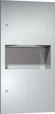 American Specialties 64623 Recessed Paper Towel Dispenser & Waste Receptacle