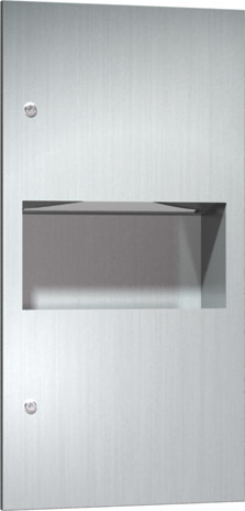 American Specialties 64623-9 Surface Mounted Paper Towel Dispenser & Waste Receptacle