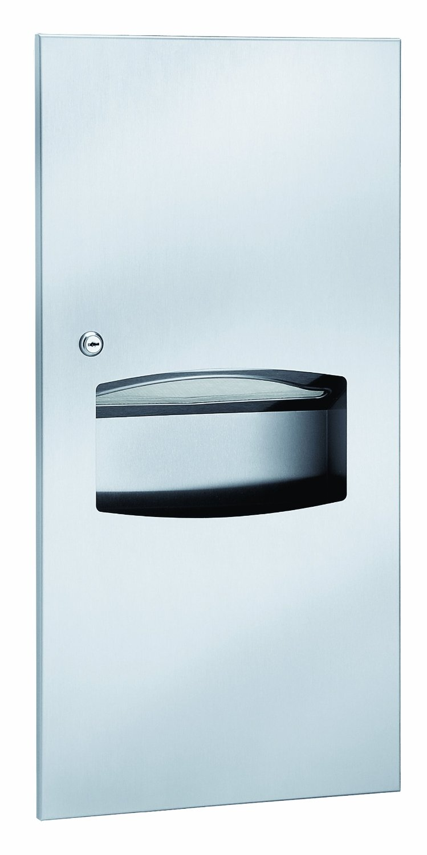 Bradley 2297-11 Surface-Mounted Towel Dispenser & Waste Receptacle