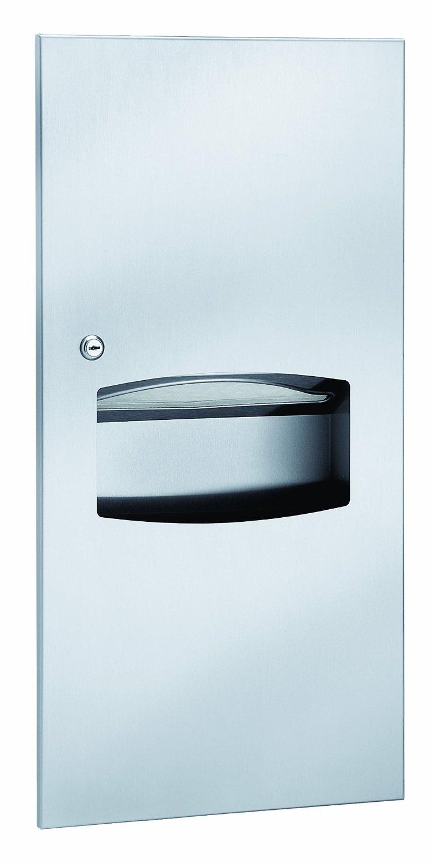 Bradley 2297-10 Semi-Recessed Towel Dispenser & Waste Receptacle