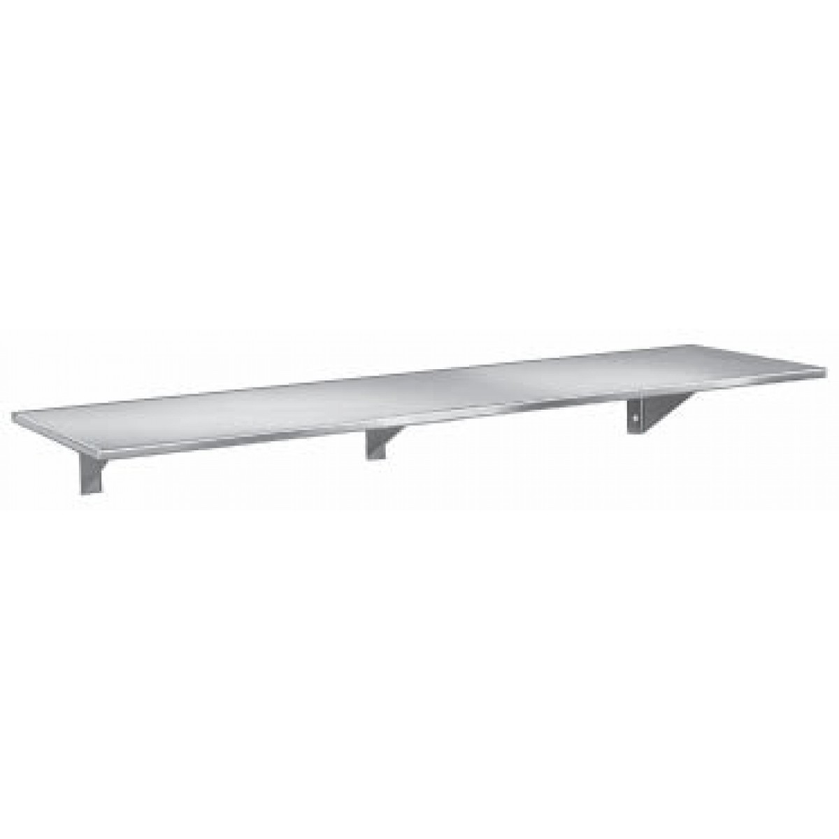 "Bradley 7512-24 Stainless Steel Shelf 12"" Depth"
