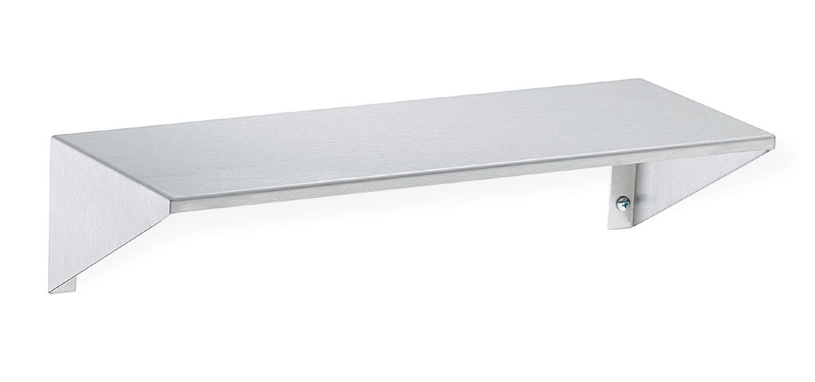 "Bradley 755-18 Stainless Steel Shelf 5"" Depth"