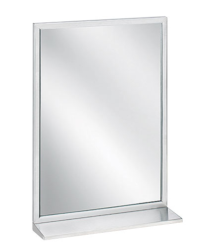"Bradley 7805-1824 Angle Frame Mirror with Shelf 18"" x 24"""