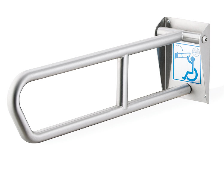 """Bradley 8370-101000  29"""" Swing Up Grab Bar With Peened Safety Grip Finish"""