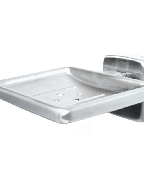 Bradley 9014 Satin Stainless Steel Soap Dish w/ Drain Holes