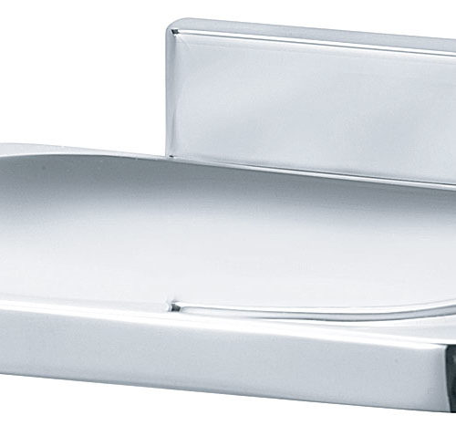Bradley 921-60 Chrome Plated Soap Dish w/ Drain Holes - 921 model shown