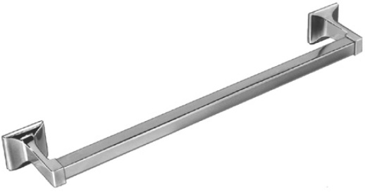 "Bradley 927-18"" Chrome Plated Square Towel Bar"