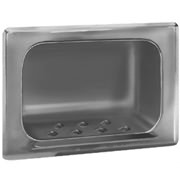 Bradley 9403 Recess Mounted Soap Dish - w/ Wall Clamp