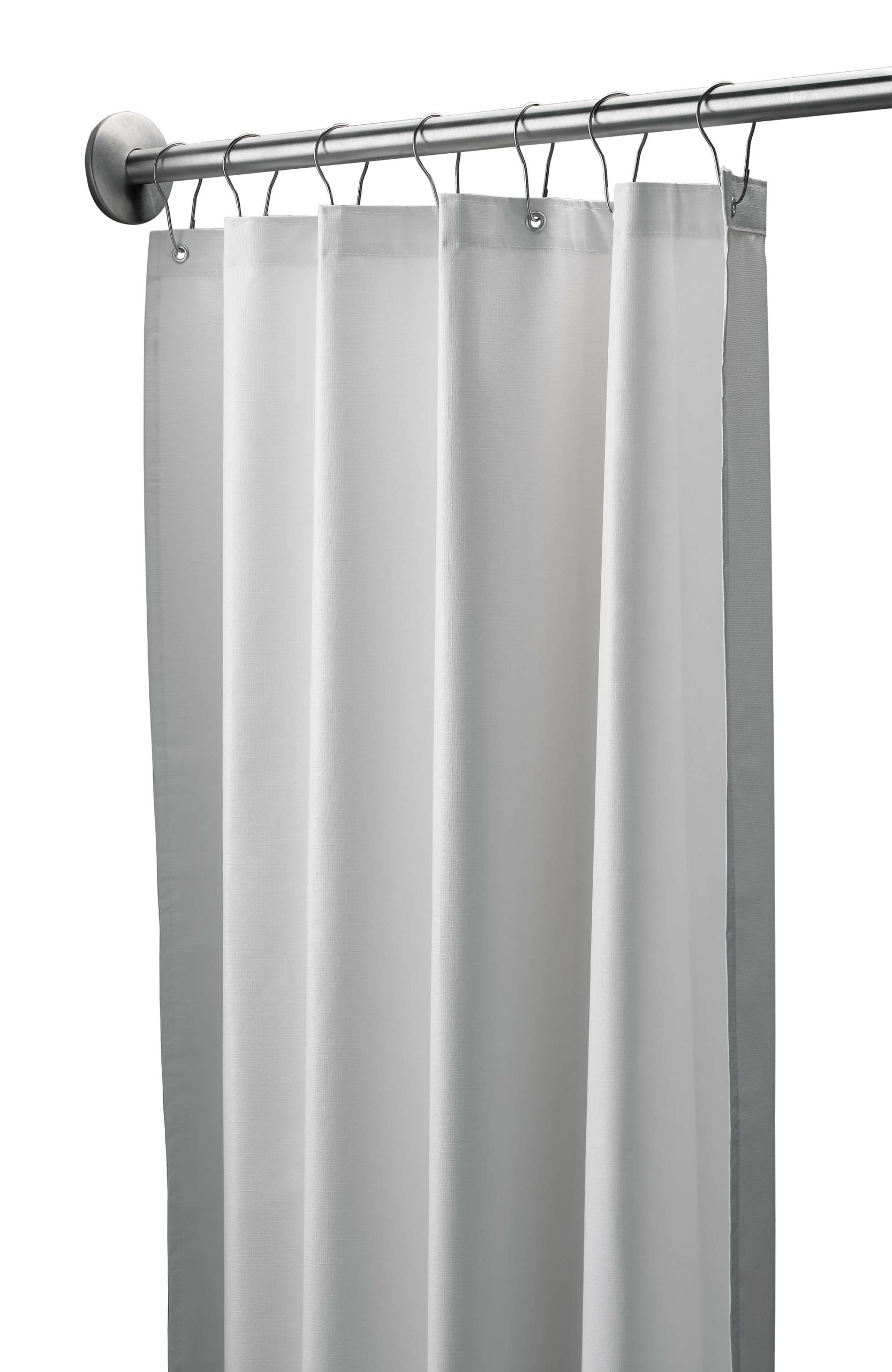 "Bradley 9533-7272 White Antimicrobial Vinyl Shower Curtain 72"" x 72"""